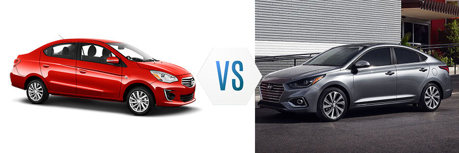 2018 Mitsubishi Mirage G4 vs Hyundai Accent