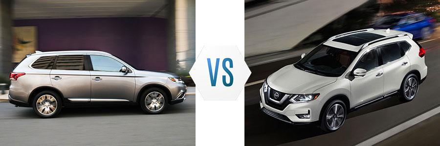 2017 Mitsubishi Outlander vs Nissan Rogue