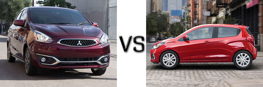2017 Mitsubishi Mirage Vs Chevrolet Spark