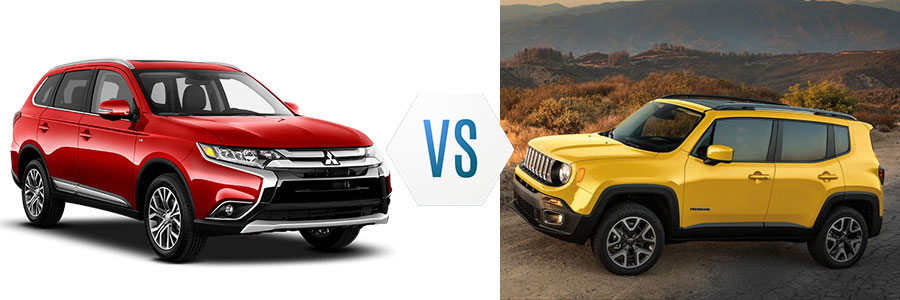 2018 Mitsubishi Outlander vs Jeep Renegade