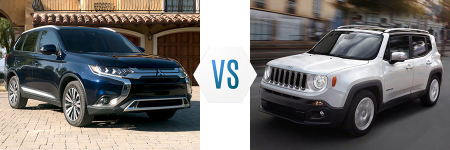 2019 Mitsubishi Outlander vs Jeep Renegade
